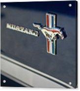 Classic Mustang Logo Closeup Acrylic Print