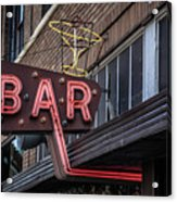 Classic Neon Sign For A Bar Livingston Montana Acrylic Print
