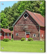 Classic Old Red Barn In Vermont Acrylic Print
