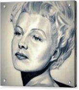 Classic Rita Hayworth Acrylic Print