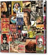 Classic Rock 2 Collage Acrylic Print
