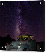 Classic Truck Under The Milky Way Acrylic Print