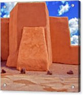 Classic View Of Ranchos Church As Oil Acrylic Print