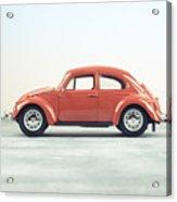 Classic Vw Bug Red Acrylic Print