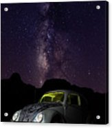 Classic Vw Bug Under The Milky Way Acrylic Print