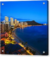 Classic Waikiki Nightime Acrylic Print