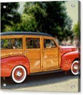 Classic Woody Station Wagon Acrylic Print