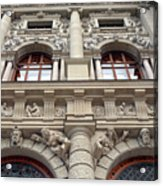 Classical Decorative Building Facade In Vienna Acrylic Print