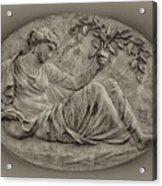 Classical Greek Woman Fresco Acrylic Print by Bill Cannon