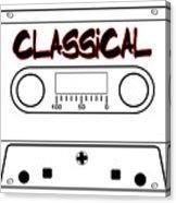 Classical Music Tape Cassette Acrylic Print