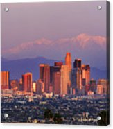 Classical View Of Los Angeles Downtown Acrylic Print
