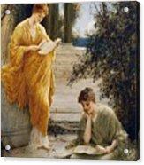 Classical Women Reading  Acrylic Print