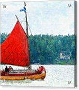 Classical Wooden Boat Tacksamheten Acrylic Print