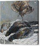 Claude Monet 1840 - 1926 Pheasant, Woodcock And Partridge Acrylic Print