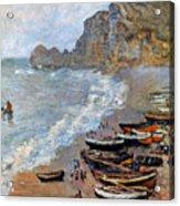 Claude Monet: Etretat, 1883 Acrylic Print