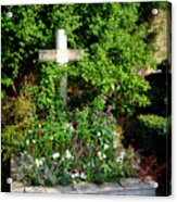 Claude Monet Grave In Giverny Acrylic Print