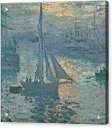 Claude Monet Sunrise Acrylic Print