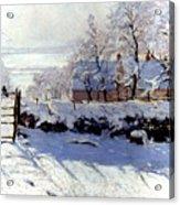 Claude Monet: The Magpie Acrylic Print