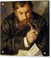Claude Monet The Reader 1874 Acrylic Print