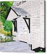 Clay Chapel Acrylic Print