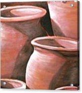 Clay Pots Acrylic Print
