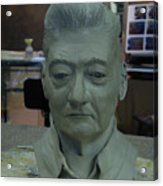 Clay Sculpture Of Gerald Simpson Acrylic Print
