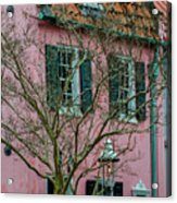 Clay Tile Roof In Charleston Acrylic Print