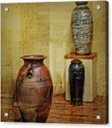 Clay - Wood Acrylic Print