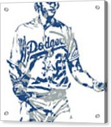 Clayton Kershaw Los Angeles Dodgers Pixel Art 10 Acrylic Print