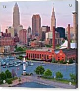 Cle Sunset View From The Shoreway Acrylic Print