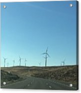 Clean Energy On The Open Road Acrylic Print