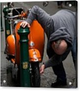 Clean Vespa Acrylic Print by Lee Stickels