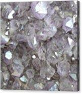 Clear Crystal Amethyst Acrylic Print
