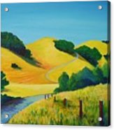 Clear Fall Day At Briones Acrylic Print