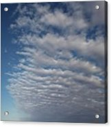 Clear Sky To Clouds Acrylic Print by Lee Stickels