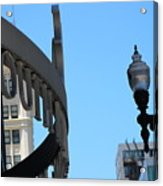 Clear Street Lamp Downtown Chicago Acrylic Print