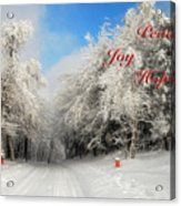 Clearing Skies Christmas Card Acrylic Print