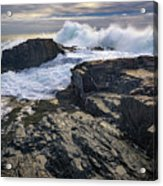 Clearing Storm At Bald Head Cliff Acrylic Print