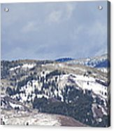 Clearing Storm On Rocky Peak And Hot Springs Acrylic Print