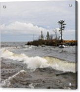 Clearing Storm Over Lake Superior Acrylic Print