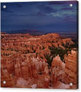 Clearing Storm Over The Hoodoos Bryce Canyon National Park Acrylic Print