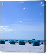 Clearwater Beach Florida Shelters Acrylic Print