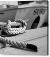 Cleat Hitch Boat Art Acrylic Print