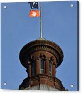 Clemson Flag At State House Acrylic Print
