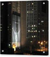 Cleveland At Night 03 - Lebron James Light Display Acrylic Print by Neil Doren