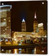 Cleveland At Night Acrylic Print