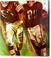 Cleveland Browns 1965 Cb Helmet Poster Acrylic Print