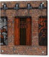 Cleveland Browns Brick Wall Acrylic Print