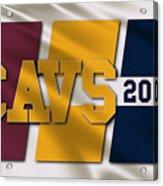 Cleveland Cavaliers Flag Acrylic Print