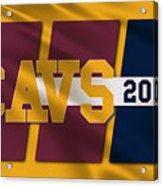 Cleveland Cavaliers Flag2 Acrylic Print